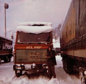 In de sneeuw a