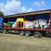 landbouw machines ophalen van een beurs Duitsland