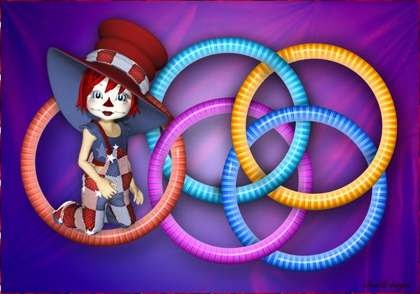 doorelkaar verweven  ringen