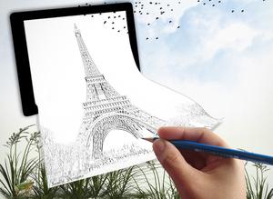 tekening parijs