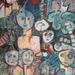 MENS EN DIER ( 60,50 x 80 ) in het landschap