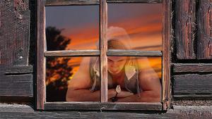 reflectie in raam