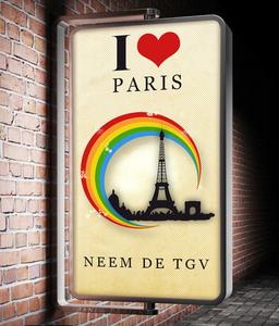 ik hou van parijs poster
