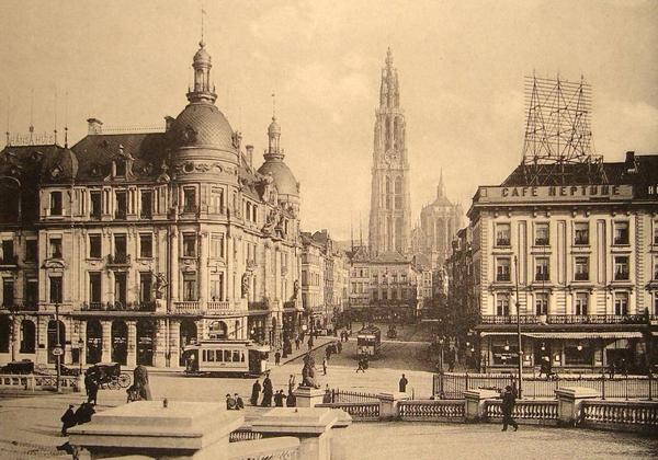 Ernest Van Dijckkaai - Cafe neptune (1900)