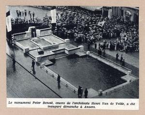 Harmonie Park - Monument Peter Benoit (1934)