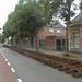 Aanleg van de tijdelijke trambaan