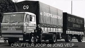 DAF-1600 Overslagbedrijf Arnhem chauffeur Joop de Jong Velp