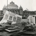 1973 Stormschade aan paviljoen 'Welkom' na de orkaan
