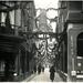 Feestversiering in de Molenstraat, Vanaf het Noordeinde 1937