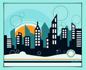 stad tekenen