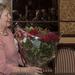 Ria ontvangt bloemen van wama4040 voor de steun aan de mailgroep