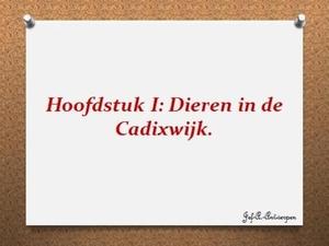 Hoofdstuk I Dieren in de Cadixwijk.