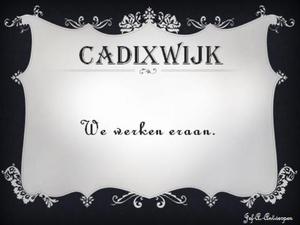 Cadixwijk We werken eraan.