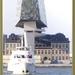 Flandriaboot met Havenhuis op achtergrond.