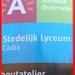Meldingsbord aan gebouwen Stedelijk Lyceum Cadix.