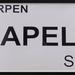 Straatnaambordje Napelsstraat.