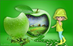 groen appelhuisje kl