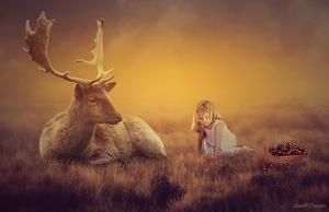 meisje met hert