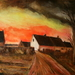 Zonsondergang naar schilderij van M. De Vlaminck