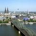Keulen   _panorama met van links naar rechts de oude stad, de Dom