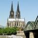 Keulen __Dom  _ zicht vanaf de Rijn