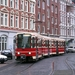 Een tram in Haagse kleuren nummerloos