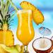 zomer-wallpaper-ananas-foto-kokosnoot-meloen-cocktail-met-rietje