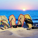 zomer-wallpaper-met-slippers-in-het-zand