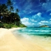 fantasy-wallpaper-with-beach-on-island-and-boats-in-the-sea