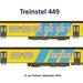 Treinstel 449 in een getekende versie