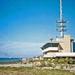 Het Zeegat en de pier van Hoek van Holland op 29-8-1985.