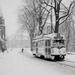 Duinweg in de sneeuw, bij de Kanaalweg, met PCC-car 1164
