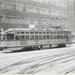 Grote Marktstraat , met lijn 10 in de sneeuw..Jaren 70