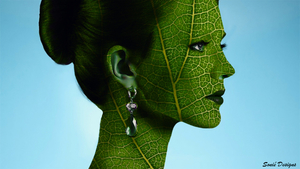 green leaves face