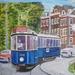 De blauwe werkspoor tram uit 1929