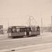 Motorrijtuig 505, lijn 9, Stationsplein, 13-3-1955
