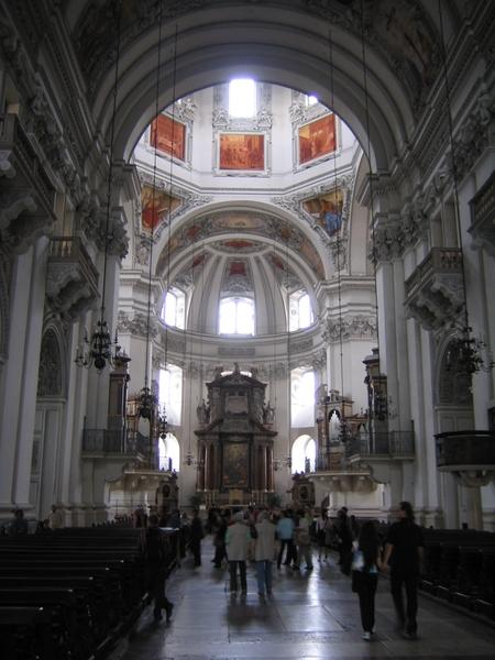 Salzburg _Cathedral inside