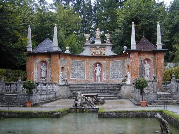 Salzburg _Schloss Hellbrunn _Wasserspiele