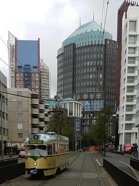 Tourist Tram 1193 bij Kalvermarkt Den Haag.