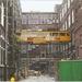 Delft werd gebruikt al loopbrug tusen de 2 gebouwen...