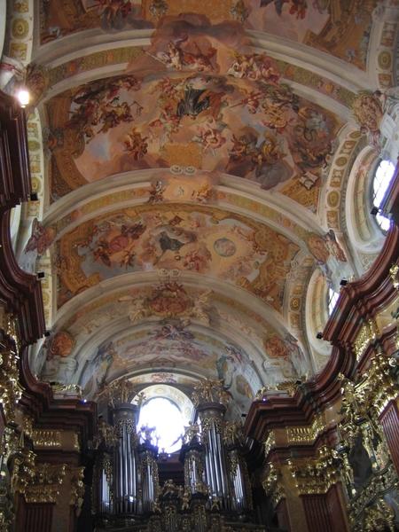 Abby of Melk _ceiling with fresco's
