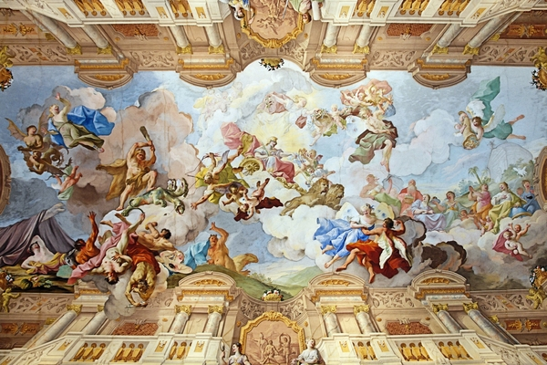 Abby of Melk _painting on de ceiling of the marble hall