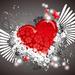hd-liefde-wallpaper-met-een-rood-hartje-en-een-grijze-achtergrond