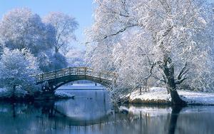 hd-winter-landschap-wallpaper-met-water-en-brug-hd-winter-achterg