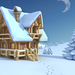 hd-winter-achtergrond-3d-huis-in-de-sneeuw-winter-wallpaper