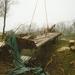 De wrakstukken worden weg getakeld