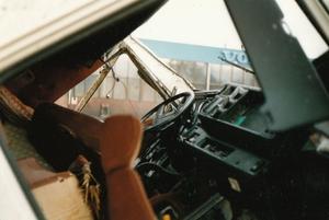 Het interieur van de Volvo