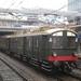 BD 9107 Oude (blokkendoos) trein wacht op vertrek.