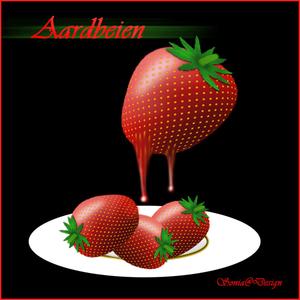 aardbeien getekend