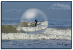 surfer in Westende